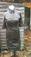 Smart Karen Millen Green, Military, Safari Style Belted Pencil Dress Size 10 UK