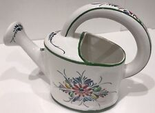 RC & CL Garden Floral Ceramic Watering Can Hand Painted in Portugal #845 AB