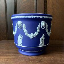 Vintage Wedgwood Deep Blue Planter Pot / Jardiniere, Made in England