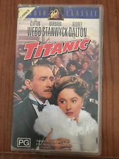 TITANIC CLIFTON WEBB BARBARA STANWYCK ROBERT WAGNER THELMA RITTER PAL VHS VIDEO