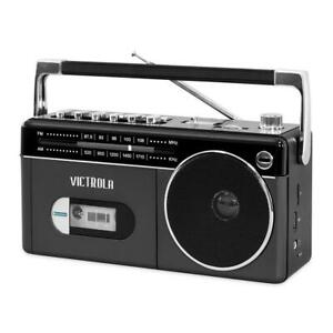 Victrola Boombox Bluetooth connectivity Cassette Player Recorder AM/FM Radio