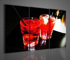 QUADRO MODERNO RED ALCOOL DRINK STAMPA SU TELA QUADRI MODERNI ARREDAMENTO BAR