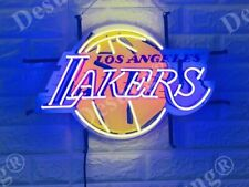 """New Los Angeles Lakers 20""""x16"""" Neon Light Sign Lamp HD Vivid With Dimmer"""