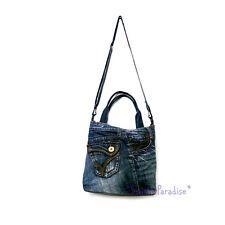 Blue Jean Bag Recycled Denim Jeans Shoulder Woman Crossbody Messenger Handbag