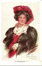 Postcards - Artist Signed - Philip Boileau - Lady - My Chauffeur