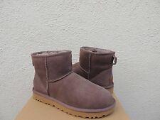 UGG CLASSIC MINI II STORMY GREY WATER-RESISTANT SUEDE BOOTS, US 10/ EUR 41 ~NIB