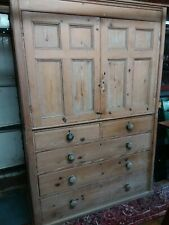 Large antique Pine Housekeepers Cupboard