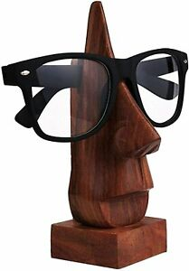 Classic Hand Made Wood Nose Shaped Spectacle / Eyeglass Display Holder Stand 6""