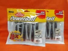 BERKLEY POWERBAIT POWER SWIMMER (3.8IN) BLACK SHAD (6CT)(2PK'S)#1483682