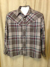 Mens Handmade Western Shirt XL Long Sleeve Wool Blend