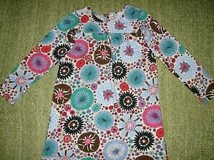 HANNA ANDERSSON Fabulous Fall Winter Floral Dress 130 Girls 8-10