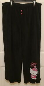 Hello Kitty 2010 Soft Lounge Pants with Embroidered Hello Kitty Size XL