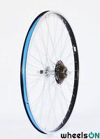 700c wheelsON Rear wheel + 7 Speed Shimano Freewheel Black/Silver 36 H
