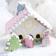 1set 3D house Scenario Cookie Cutters Biscuit Mold Fondant Cutter Baking Tool,