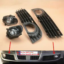 Fit For AUDI A8 Quattro D3 4E 2005 2006 2007 Front Lower Fog Lamps & Grills Kit