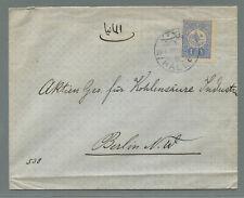 Syria Ottoman period 1912 cover  Halep > Germany