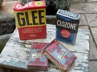 WW2 4 Boxes 1940's Soap Washing Powder Home Front Blitz Imp Calzone Glee Vintage