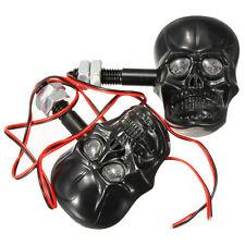2x frecce indicatori di direzione ambra teschio skull 3d moto harley custom K8H6