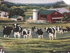 "Danbury Mint Cows Of Content Plate Farmstead Reflections Bonnie Mohr Cows 8"""