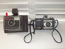 Vintage Cameras x 2 Polaroid Land Camera and Coronet Flashmaster