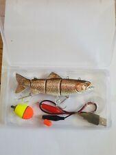 Leurre eau douce robotic electrique truite usb /  fishing lure trout electric
