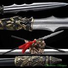 Zhaoyun Spear Polearm Sword Pattern Steel Spearhead Blade Battle Ready龍膽亮銀槍#3603