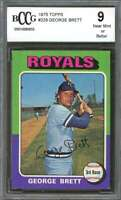 1975 topps #228 GEORGE BRETT kansas city royals rookie card BGS BCCG 9