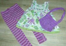 Cute Little Girls Size 5 6 Years Naartjie Tank Purple Leggings Purse Outfit Set