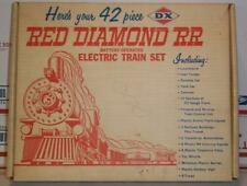 Vintage 1950's tootsietoy DX RED DIAMOND RR railroad train boron gasoline w box