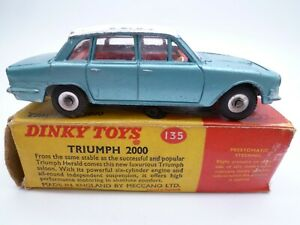 VINTAGE DINKY TOYS 135 TRIUMPH 2000 IN ORIGINAL BOX ISSUED 1963-69