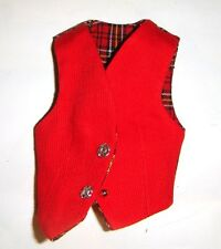 Ken Doll Sized Fashion Red Vest For Ken Dolls ks11