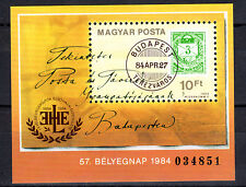 HUNGARY MAGYAR 1984 57th Stamp Day Souvenir Sheet MNH - FREE SHIPPING