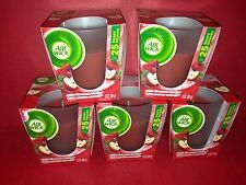 5 Air Wick Aqua Essences Glass Candle Apple Cinnamon Medley 25 hour each