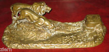 Antique Bronze Lion & Tiger Inkwell Signed F. Gornik w/ Foundry Mark Ar ca.1890