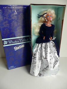 Barbie Doll- Winter Velvet Barbie-Special Edition-Avon 1st in series-1995-NIB