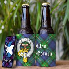 Gordon Clan Drink Cooler - Scottish Stubby Holder - Beer Bottle Can