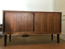 More details for gordon russell sideboard, ash + rosewood, adapted for use as media cabinet.
