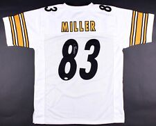 Heath Miller Signed White Pittsburgh Steelers Jersey (JSA)  2xProBowl Tight End
