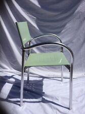 Aluminium Outdoor Stacking Arm Chairs Cafe Bistro Garden Patio Restaurant