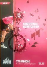 2016 GIRO D'ITALIA ITALY BROADCAST TV ROADBOOK ENGLISH CYCLING NO TOUR DE FRANCE