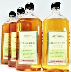 Bath Body Works Aromatherapy SANDALWOOD ROSE Body Wash 10 oz., NEW x 4