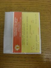 23/01/1991 Ticket: Manchester United v Southampton [Football League Cup Replay].