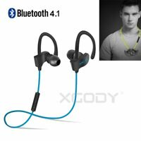 Bluetooth Headphone Wireless Earphone Sport Running Stereo Headset Earbuds W/Mic