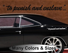 """2X """"To Punish and Enslave...""""  Vinyl Decal TRANSFORMERS DECEPTICONS DOOR SIDE"""