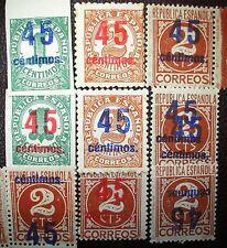 Spain C9 Lot  ed 742, 743, 744** + full + rara variedad Cifras. Bueno aprx 280€