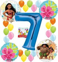 Moana Party Supplies Birthday Decorations Number Balloon Bundle for (7th Birt...