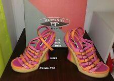 New in box Bumper by BestfitOrange/Hot Pinkplatformheels U.S. size 6