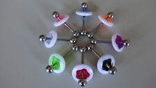 1 x  Zungenpiercing Acryl DISC FLOWER Donut  NEON verschiedene Farben TOP