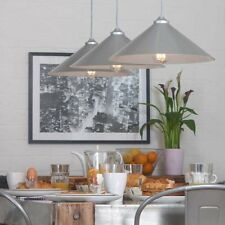 3x Bilton white metal coolie style pendant ceiling lights with electrics & wires