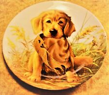 "1987 Knowles Plate ""Caught In The Act- The Golden Retriever� Lynn Kaatz #2859E"